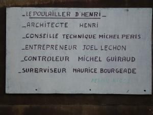 Devant la menace de fermeture du chantier, Henri s'est mis en conformité avec la réglementation!!!